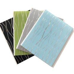 20ccm-25cm de largeur du panneau de plafond en plastique d'impression de transfert de la feuille avec Silver Line Decoration Material