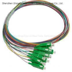 12 couleurs LC/APC Sm Multi-Pigtails sortie ventilateur à fibre optique