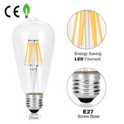 De uitstekende LEIDENE van de Gloeilamp van Edison LED Bollen van de Lamp van de Verlichting 2200K van de Basis van de Schroef van de Spiraalvormige Flexibele St64 A60 C35 G80 T45 2W 4W 6W 8W Bol van de Gloeidraad Decoratieve E27 Warme Witte