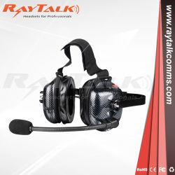 Het Op zwaar werk berekende Lawaai die van de walkie-talkie de Hoofdtelefoon van de Hoofdtelefoon voor het Rennen Mededeling annuleren