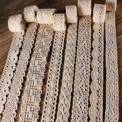 広く厚くテーブルクロスのカーテンHometextilesのための綿のかぎ針編みのレースを薄くしなさい