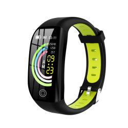 HDの大きいスクリーンの情報処理機能をもった血圧のモニタGPSの作業の追跡者が付いているSkincare 2カラーシリコーンストラップのスポーツの腕時計