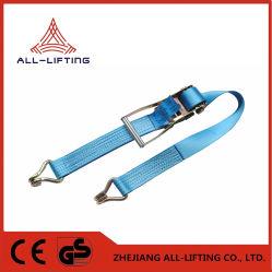 50mm 5t la correa de amarre de carga de sujeción de la hebilla de trinquete
