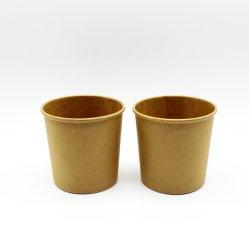 Alta qualidade comida sopa de macarrão tigela de sopa de papel Cup com tampa de plástico