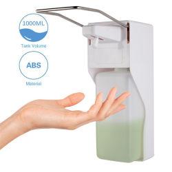 500/1000ml de aan de muur bevestigde ABS Plastic Automaat van het Desinfecterende middel van de Was van de Hand van de Elleboog van de Alcohol
