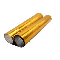 Золотого цвета на основе металлических ПВХ пластика горячее формование пленки для шоколада лоток