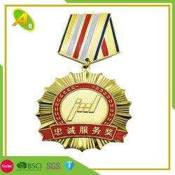 리본즈 골드 실버(Ribbon Gold Silver)의 맞춤형 군용 경찰 메탈 기념품 청동 맞춤형 L-러너 프로모션 메달 (122)