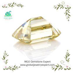 Hellgelb/blau/Grün/Graues/Rosa/Schwarzes/Bernstein/Champagne-für immer leuchtendes Smaragd-Schnitt Labor gewachsener Moissanite Diamant