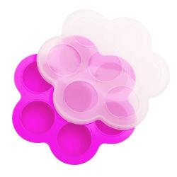 De in het groot Plastic Vorm van de Dienbladen van de Diepvriezer van het Ijs van de Container van de Babyvoeding van het Deksel Opnieuw te gebruiken