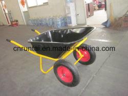 Wb6404 Hot vendre Construction doubles roues brouette de roue
