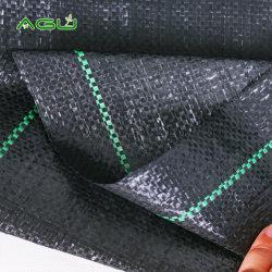 La agricultura de plástico tejida PP barrera anti-UV de control de malezas de tela estera de la maleza