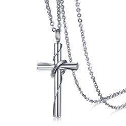 Qualitäts-Edelstahl-Kreuz-hängende Halskette für Mann-Form