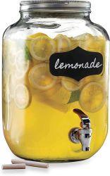 個人的な透過ガラスジュースの記憶の瓶の金属のふたが付いているガラス飲料ディスペンサー
