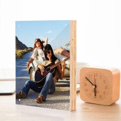 Personalizar bambu natural Acrylic molduras de imagem Photo para o bebé