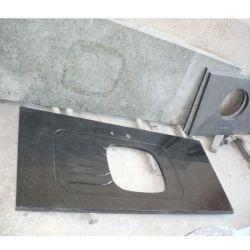 La Chine Pierre Noire comptoir en granite pour la cuisine