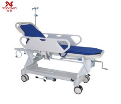Yxz-E-1 Manual Hospital gebruikte de ABS Patient Transfer Trolley Stretcher voor Noodkamer met matras en IV-paal