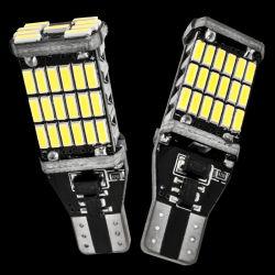 T10 T15 W5W W16W Canbus T15 4014 45 SMD LED W5w Erreur Canbus libre auto voiture lampe LED lumière LED Canbus