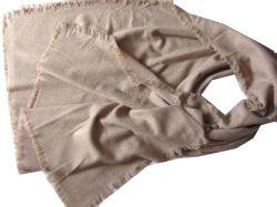 Throw Shawl 100% Twill Cashmere 100X190 + 2cmx4 360 ( 1 )