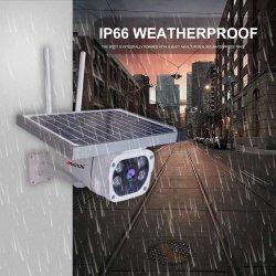 كاميرا 4G LTE الشمسية من الجيل الرابع ذات الدوائر التلفزيونية المغلقة اللاسلكية مع الطاقة الشمسية لكاميرا خارجية