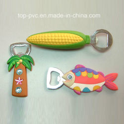 Qualität Plastic Promotional Gift 3D Silicone Bottle Opener (BO-004)