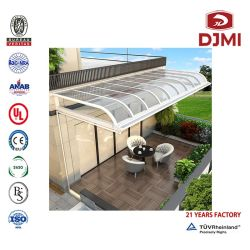 열방지 지붕 방풍 비 방비 실외용 선 셰이드 폴리카보네이트 플랫폼 하품하는 주차장 알루미늄 유리 PVC 전구 파손 해저룸 캐노피 셰드