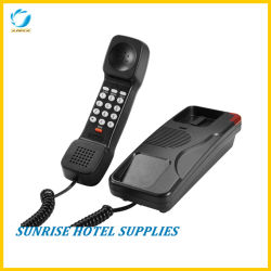 調節可能なフラッシュタイマーが付いているホテルの浴室の電話