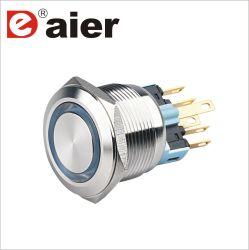 22mm en acier inoxydable sur le bouton poussoir à LED de verrouillage Interrupteur métallique