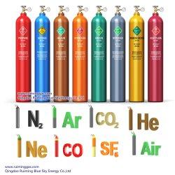 L'Oxygène de haute pureté/l'Argon/l'Hélium/CO2/N2O /l'Acétylène / éthylène / SF6 / CF4 Vérin à gaz /Cylindre d'oxygène