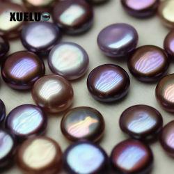 Xueluo la máxima calidad de color púrpura oscuro moneda suelta perlas Perla barroca Wholesale