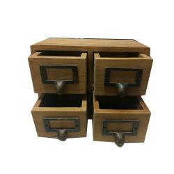 Mesa de madera de bambú de estilo moderno, Organizador de Office 4 Gabinete de madera