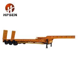3 EIXOS Deck Cama Baixa Extensível contentor semi reboque Lowboy veículo tractor