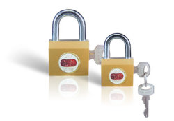 Imiter ouverture latérale de cadenas en laiton W/2 touche (9005025)