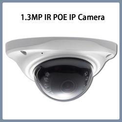 1.3MP Poe IR Mini-dôme IP réseau caméra de sécurité CCTV