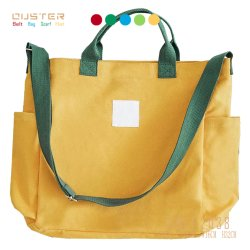 Het Winkelen van de Handtassen van de Vrouwen van de Zakken van het Canvas van de manier de Eenvoudige Handtas van de Zak de Toebehoren van de Manier van de Verdeler van de Zak van de Hand van Dame Work Bag Basic Style Totalisator