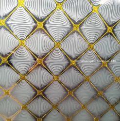 Papier satin finition en verre dépoli verre décoratif pour Casino /Hôtels / foyers décorations