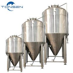 De gebruikte Tanks van de Schepen van de Gisting van het Roestvrij staal van het Jasje van het Bier van de Ambacht Koel