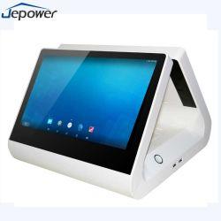 11.6 pouces tablette Android à affichage double écran tactile de point de vente tous dans une machine POS