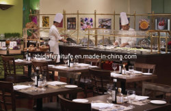 Moderne Speisetisch-Stand-Lagerungs-kundenspezifisches Gaststätte-Möbel-Set