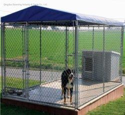 Heißer Verkauf passte DIY Kettenlink-galvanisierte Hundehundehütte an