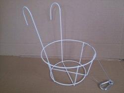 金属線の円形の植木鉢のバスケット