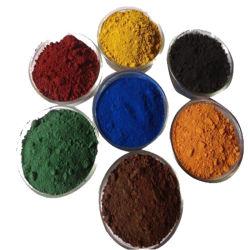 Pigmentos para hormigón, cemento y pintura, tintura de óxido de hierro