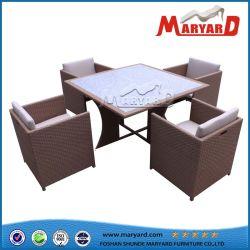 Mobilier de jardin patio en rotin moderne dîner Table et chaises