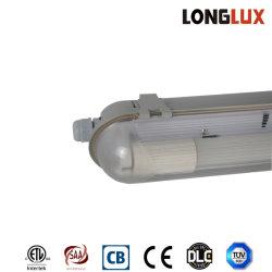 1,2 m de 1*36W fluorescentes ETL el aparejo de la luz de la tapa de plástico