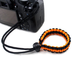 ミラーレス用編組パラコード調整可能カメラリストストラップ / ブレスレット Compact System DSLR カメラ Esg10511