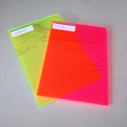 Acrílico de plástico claro Placa fluorescente a folha de acrílico