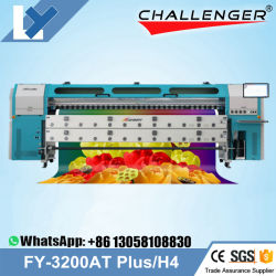 INFINITI / Challenger FY-3200at H4 مذيب رقمي للتصغير الرقمي بطول 3.2 م طابعة مزودة بمذيب Seiko Alpha 1024 Printhead Infinity 3200atbanner