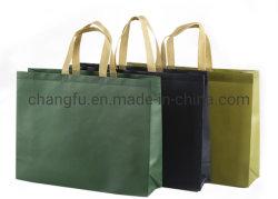 Heavy Duty Logotipo personalizado reciclable laminado no tejido Bolsa de compras de comestibles Cliente