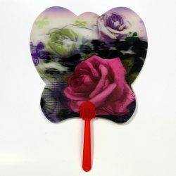 Impressão personalizada pet 3D plástico Lenticular os fãs de mão