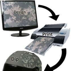 Hidrografía en blanco de alta calidad de transferencia de agua de las impresoras de inyección de tinta film impreso con tintas de color de 6