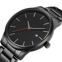 Het eenvoudige Polshorloge van het Venster van de Kalender van het Horloge van de Gift van het Horloge van de Mensen van de Horloges van het Merk